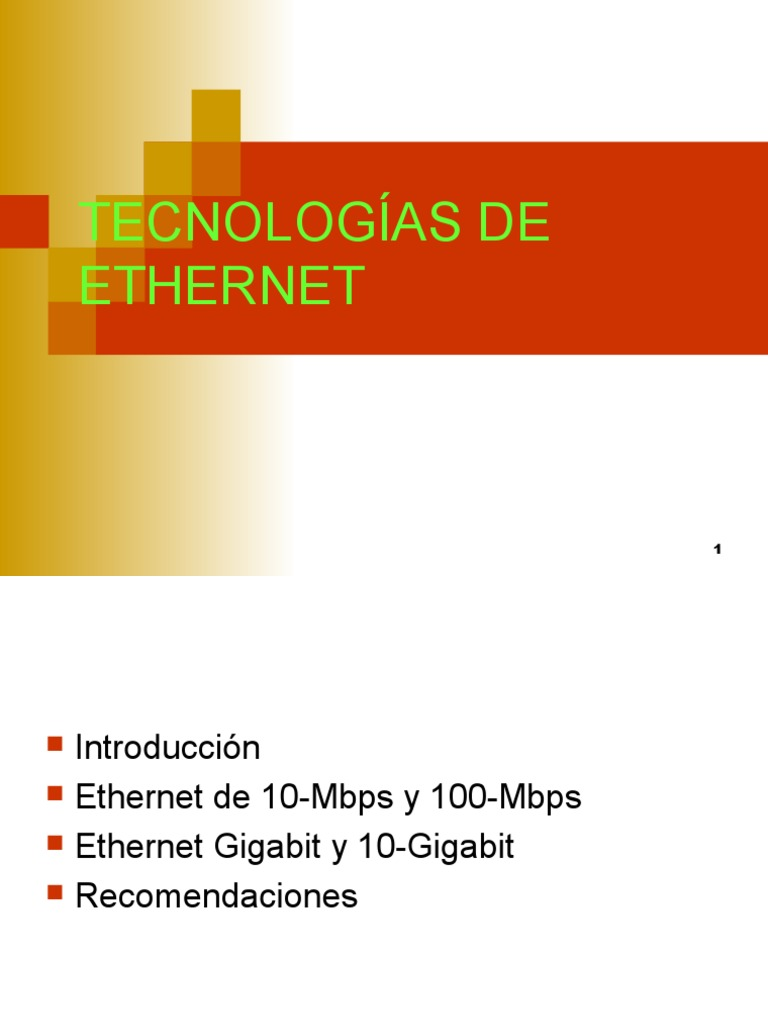 8-Tecnologías de Ethernet