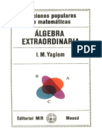 Álgebra extraordinaria - Yaglom