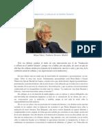 MIGUEL SÁENZ - Traducción y Cultura en El Ámbito Literario