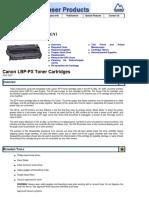 Canon LBP PX Toner Summit Web