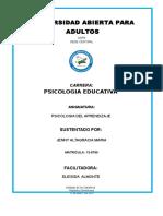 Tarea II de Psicologia Del Aprendizaje