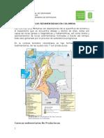 Cuencas Sedimentarias en Colombia.