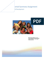 developmental summary assignment