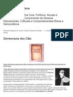 Democracia Dos Clãs – Cidadania & Cultura