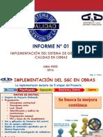 GyG Informe de Implementación Del SGC en Obras