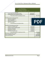 Instructions for a Cash Flows Statement Direct Method