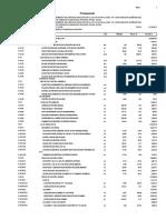 presupuesto de institución educativa