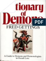 Fred Gettings - Dictionary of Demons - A Guide to Demons and Demonologists in Occult Lore (1988)