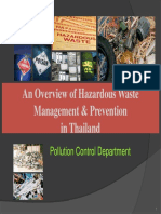 Hazadous waste management & prevention in Thailand