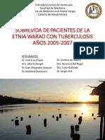 sobrevida de pacientes de la etnia warao con tuberculosis 14-04-17