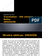 Translation – 6th Session Notes