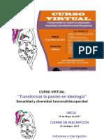 """CURSO VIRTUAL """"Transformar La Pasión en Ideología"""" Sexualidad y Diversidad Funcional%2Fdiscapacidad"""