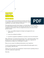 Contoh Application Letter