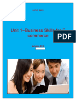 Unit 1–Business Skills for E Commerce