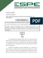 Ejemplo de Diseño de Investigación No Experimental
