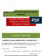 Aula 1 Funcoes Vetoriais Derivada Integral