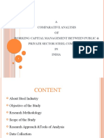 Working Capital Management between Public & Private Sector Steel Companies.pptx
