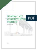 Nominal Mix Design by Dlbd Method
