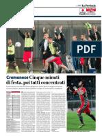 La Provincia Di Cremona 15-04-2017 - Calcio Lega Pro - Pag.1