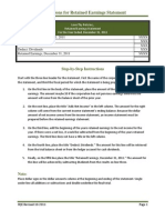 Basic Instructions for Retained Earnings Statement