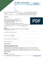 Cours Math - Chap 3 Algèbre Fonctions Polynômes - 2ème Sciences (2009-2010) Mr Abdelbasset Laataoui Www.espacemaths.com