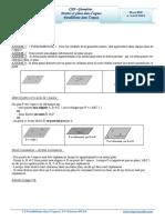 Cours Math - Chap 8 Géométrie Droites Et Plans Dans l'Espace - 2ème Sciences (2009-2010) Mr Abdelbasset Laataoui Www.espacemaths.com