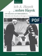 Un Diálogo Autobiográfico Hayek Sobre Hayek Biblioteca Austriaca