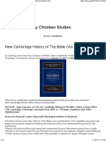 New Cambridge History of the Bible Vol. 3