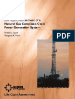 Life Cycle Assessment of a Combined Cycle Power Plant