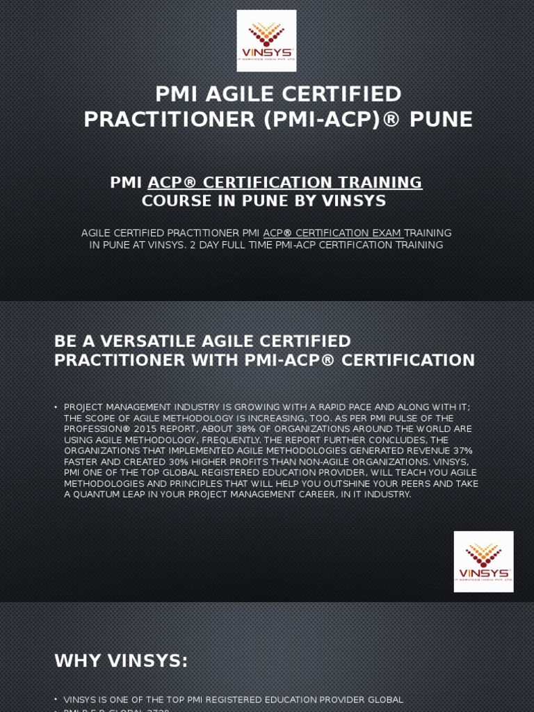 Pmi acp certification training course in pune 1betcityfo Images