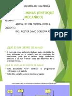 Cierre de Minas - Enfoque Geomecanico