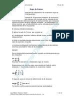 Formas para desarrollar matrices + Regla de Cramer