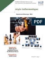 Rapport Stratégie Informatique