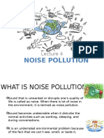 LECTURE 4 ( Noise Pollution)