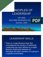 Principles of Leadership Skills