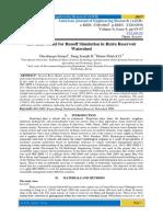 Hec-Hms Model for Runoff Simulation in Ruiru Reservoir Watershed
