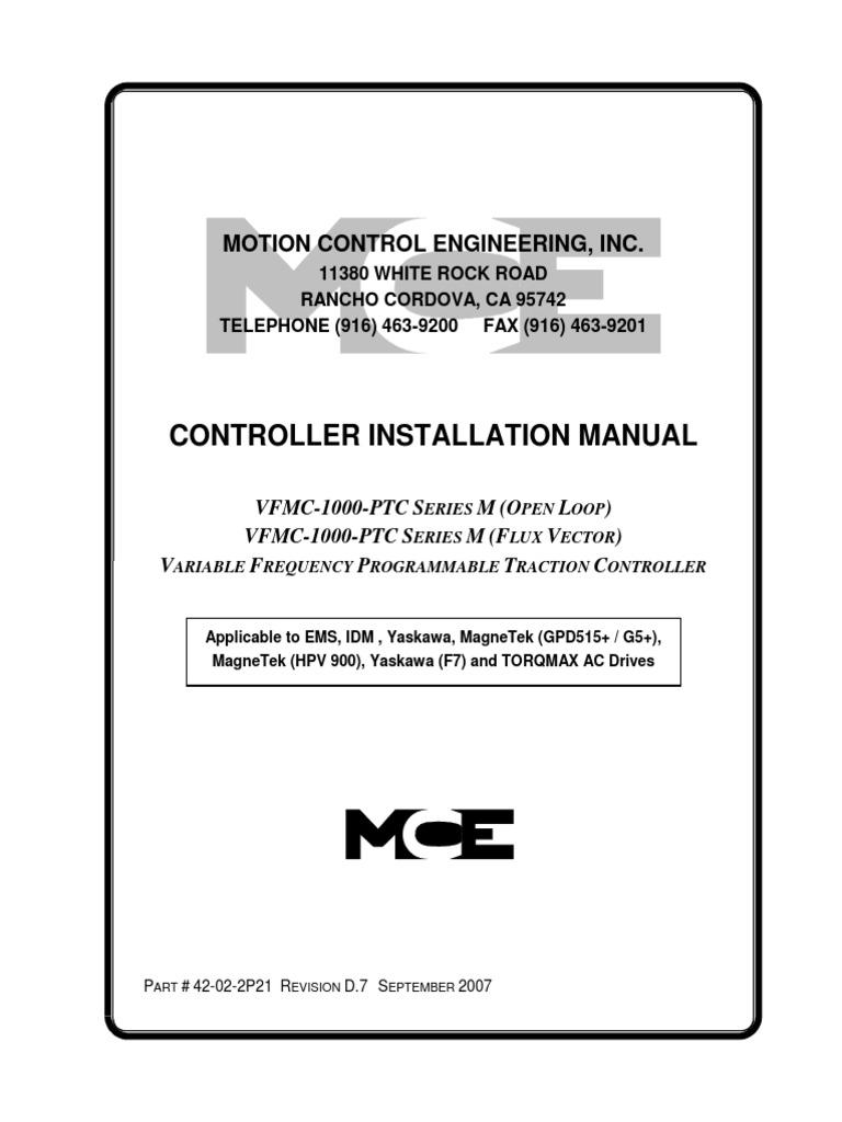 vfmc ptc series m 42 02 2p21 rev d7 acceleration elevator rh scribd com