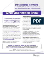 Employment Standards Poster - June 2015