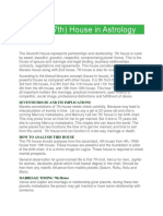 Seventh (7th) House in Astrology