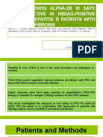 Peginterferon Alpha-2b is Safe and Effective in HBeAg-Positive