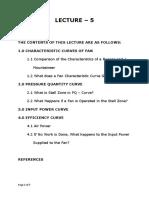 Lecture 5= Fan characteristics curves