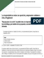 04 Independencia de Cataluña_ La Vicepresidenta Se Reúne Con Oposición y Empresarios Catalanes e Irrita a Puigdemont