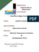 Chumacero Cordova Blanca Patricia Carpeta Pedagogica