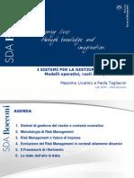 I SISTEMI PER LA GESTIONE DEL RISCHIO Modelli Operativi, Ruoli e Responsabilità