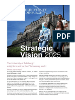 University of Edinburgh - Strategic Vision 2025