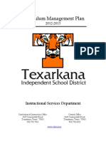 TISD Curriculum Management Plan 2012-13