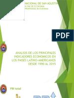 Analisis de Los Principales Indicadores Economicos en Los