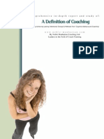 Report a Definition of Coaching