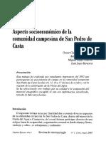 Asècto Socioeconomica de San Pedro de Casta