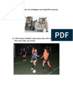 Animals and Sports